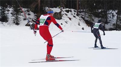 Skiers cross the line in Switzerland