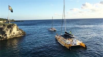 Sailors are jammin' in Jamaica