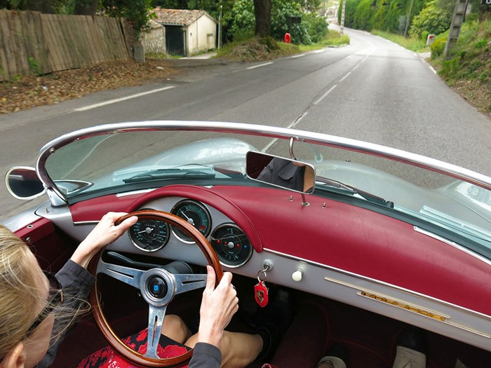 A drive through France in a vintage Porsche