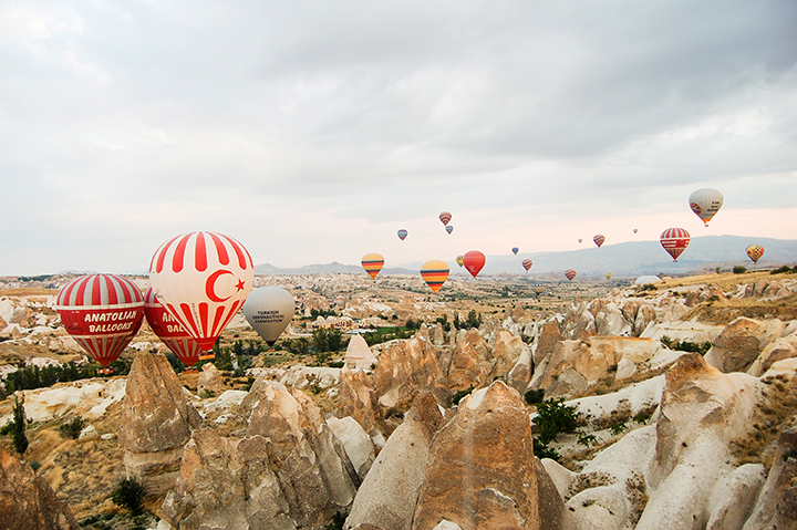 Flying high over sacred Cappadocia