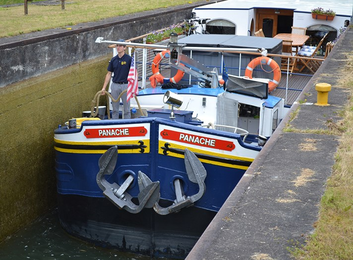 Barging through France with Panache