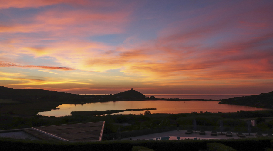 Sardinia sunrise is splendid