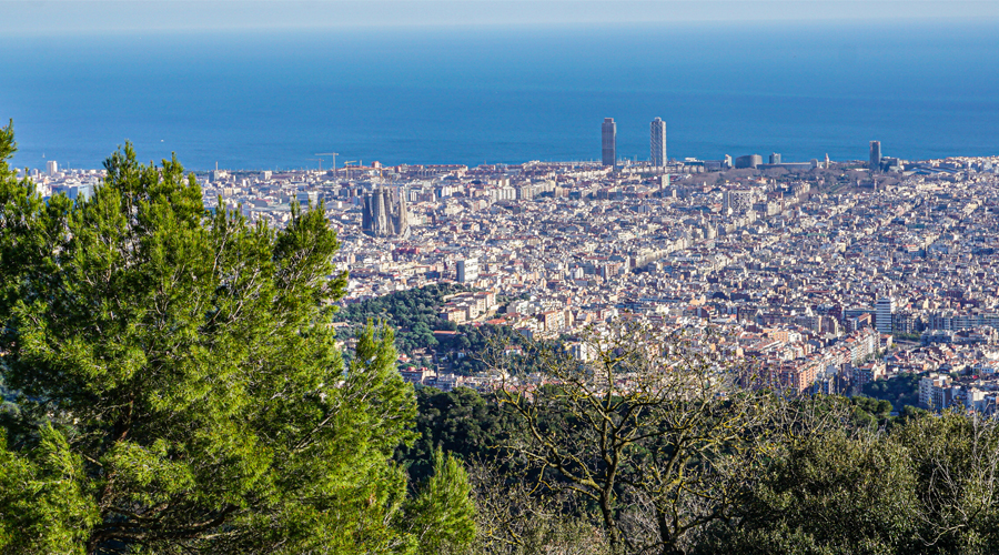 A bird's eye view of Barcelona