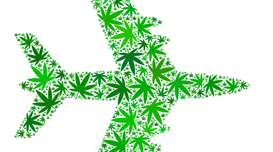 Canadian airline passengers going to pot